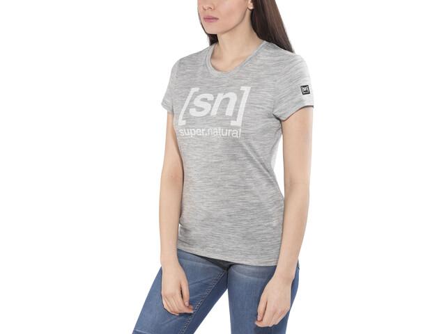 super.natural Essential I.D. - Camiseta manga corta Mujer - gris